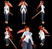 Its Mora in 3D by freelancemanga