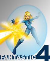 Invisible Woman - Fan Art by B-neoZEN