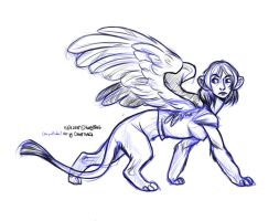 A teenage sphinx in LA LOL by thalia-is-crazy