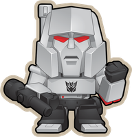 Megatron mini G1 by BurningEyeStudios