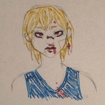 loose glittery kurapika by RedthePuppy