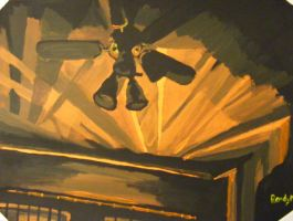 The lights against the fan by rmsk8r05