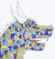 Gold and Silver Ice Dragon by NINJAWERETIGER