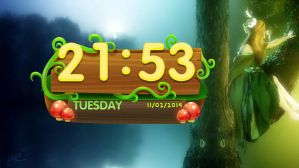Fairy Tail Clock for xwidget by jimking