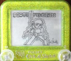 Scott Pilgrim etchasketch by pikajane