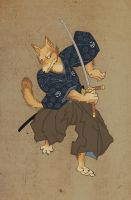Samurai fox by Keaze