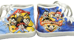 Animaniacs Cartoon Painted Shoes by LaPointeVArt