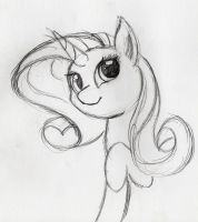 Rarity Sketch by otto720