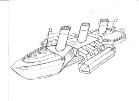 Steamship Galactica - Sketch by Promus-Kaa