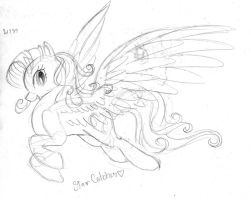 Free-willed sketch, Star Catcher the Pegasus by Winged-Dragoness
