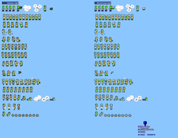 MLSS Hammer and Boomerang Luigi sprites sheet by PxlCobit