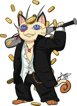 Punk Meowth by SHARK-E