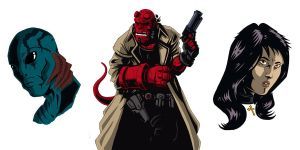 Hellboy characters by RAAKILE