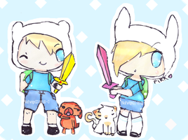 Finn + Fionna: Adventure Time ! by FringedPikaa