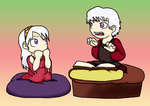Chibis: Dany and Viserys by Regendy