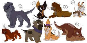Doggy Adoptable Batch 2 - 5/8 OPEN! by Wolf-Chalk