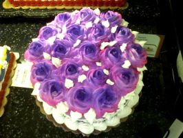 Purple rose cake by TheForest