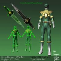 Green Ranger/DragonRanger Low Poly Model by Wewvic