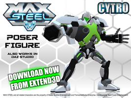 MAX STEEL CYTRO figure for Poser DOWNLOAD NOW by RazzieMbessai