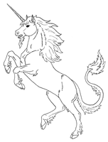 Adult Heraldic Unicorn by TNHawke-Ent