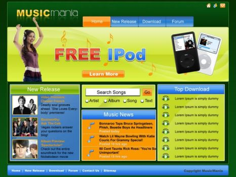 GUI for Music Site by gopalb