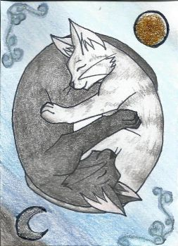 ACEO collab - two cats :3 by WeraHatake