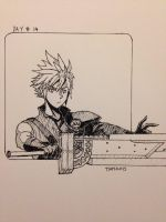 Inktober day #14: Cloud Strife by TimTam13