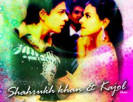 Shahrukh khan and Kajol by scarletartista