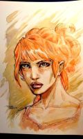 What is it about the Red Heads? - Watercolor by dreamflux1
