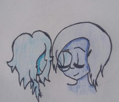 Blue Pearl and Zicron by Crystalheart2018