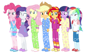 EQG:RR Slumberparty by dm29
