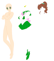 Sailor Jupiter Base by SelenaEde