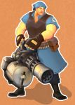 TF2: Heavy Weapons Girl by alciha