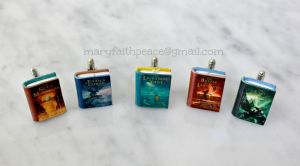 PERCY JACKSON Inspired CUFF LINKS by maryfaithpeace