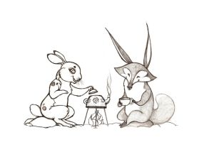 Tea and Gossip - Sketch by killskerry