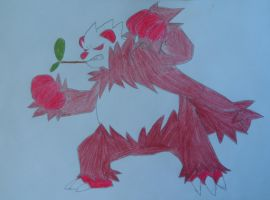 Red Pangoro by FlyingLion76