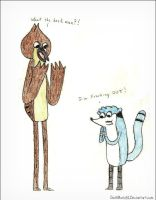 Color Swapped Mordecai and Rigby by D-M-8-1