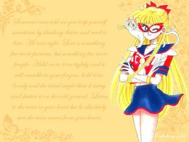 Sailor V Wallpaper by purplefairy456