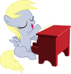 Filly Derpy - Playing The Piano by SuperAnimeFanArt