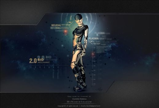 sci fi character female android 5 by mynorthshadow