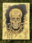 Celtic skull - sunshine - 10-05-2015 by threepussycats