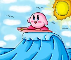 Kirby Surf by ninpeachlover