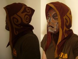 Dragon Priest Mask and Hood by Corroder666