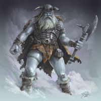 Frost Giant by danielsyzygy