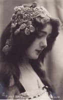 Vintage lady with wonderful headdress.002 by MementoMori-stock