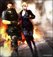 Escape from hell (Chris and Jill) by kingofshadows26