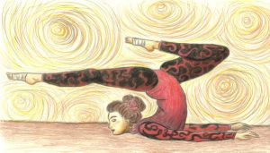 Contortionist in red by umrae