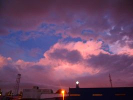 Clouds and Colored Sky I by chriscastielredy