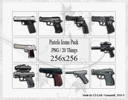 Pistols Icons Pack by conzumir
