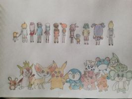Pokemon drawing by Pikarty10